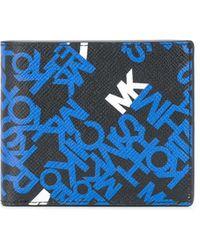 Michael Kors Brooklyn Logo Crossgrain Billfold Wallet - Blue