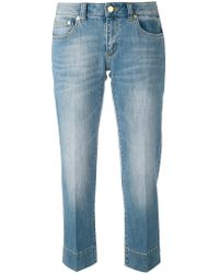 MICHAEL Michael Kors | Stonewashed Cropped Jeans | Lyst