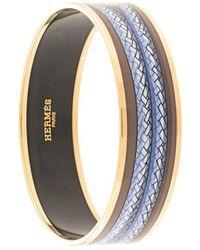 Hermès Bracciale rigido Enamel Cloisonne Ware - Blu