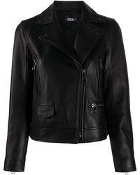 Karl Lagerfeld Байкерская Куртка С Косой Молнией - Черный