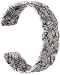 Aurelie Bidermann 'braided' Open Bracelet - Metallic
