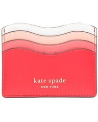 Kate Spade Wave カードケース - ピンク