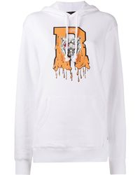 ROKH Tiger Graphic Hooded Top - White