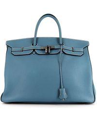 Hermès Pre-owned Birkin 40 Tas - Blauw