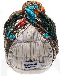 MaryJane Claverol Turban mit Perlen - Orange