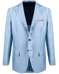 Kiton シングルジャケット - ブルー