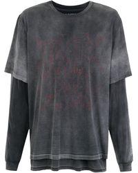 À La Garçonne + Hering Tシャツ - グレー