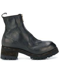 Guidi Laarzen Met Ritsdetail - Zwart