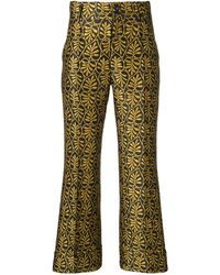 LaDoubleJ Jacquard Trousers - イエロー