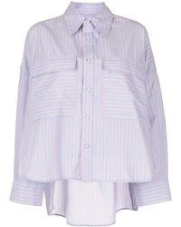 Izzue Striped Button Shirt - Blue