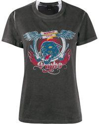Pinko Camiseta con estampado gráfico - Negro