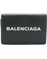Balenciaga エブリデイ フラップ長財布 - ブラック