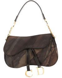 Dior Pre-owned Saddle Handbag - Brown