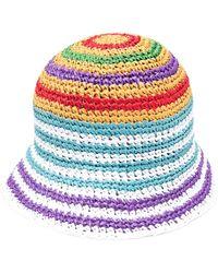 Missoni Striped Woven Bucket Hat - Yellow