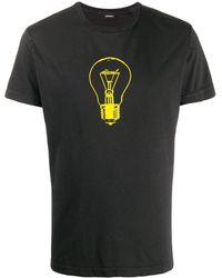 DIESEL T-shirt Light Bulb - Nero