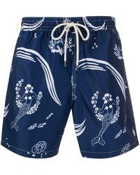 Polo Ralph Lauren Mermaid Print Swimming Shorts - Blue