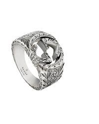 Gucci Ring mit verschlungenem GG - Mettallic