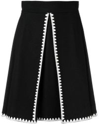 RED Valentino - Embroidered A-line Skirt - Lyst