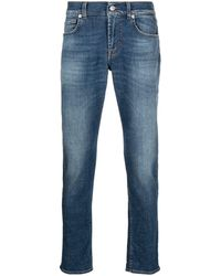7 For All Mankind Slimmy テーパード ジーンズ - ブルー