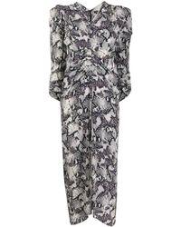 Isabel Marant Snake-print Midi Dress - White