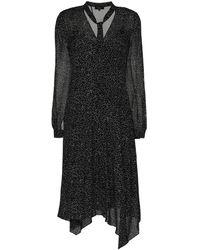 Theory アシンメトリー ドレス - ブラック