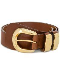 A.F.Vandevorst Gold-tone Buckle Belt - Brown