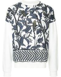 Yoshiokubo - Leaf Printed Sweatshirt - Lyst