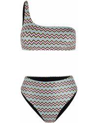 M Missoni Zigzag-print Bikini Set - Blue