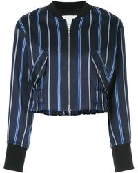 3.1 Phillip Lim - Zipped striped bomber jacket - Lyst