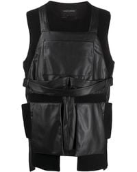 Craig Green Faux-leather Panel Top - Black