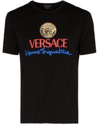 Versace プリント Tシャツ - ブラック