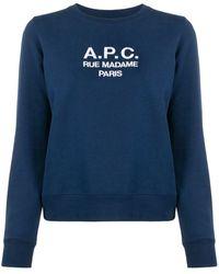 A.P.C. ロゴ ニットトップ - ブルー