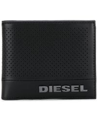 DIESEL 二つ折り財布 - ブラック