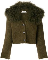 Sea - Lamb Fur Trim Cardigan - Lyst