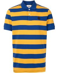 Kent & Curwen ストライプ ポロシャツ - ブルー