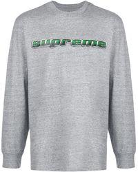 Supreme T-shirt con stampa - Grigio