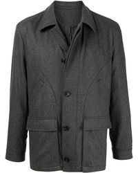 Gieves & Hawkes Padded Zipped Jacket - Gray