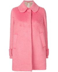 N°21 Curved Collar Coat - Pink