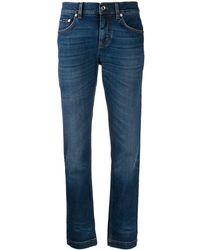 Dolce & Gabbana Jeans slim con vita media - Blu