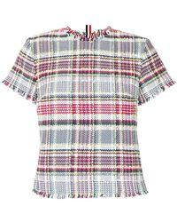 Thom Browne - Tweed T-shirt - Lyst