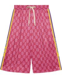 Gucci GG Technical Jersey Shorts - Pink