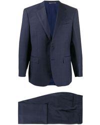 Canali シングルスーツ - ブルー