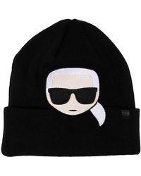 Karl Lagerfeld - Шапка Бини K/ikonik С Вышивкой - Lyst