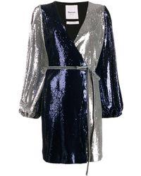 Black Coral Платье С Пайетками И Поясом - Многоцветный