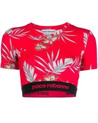 Paco Rabanne - フローラル クロップドトップ - Lyst
