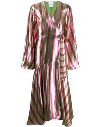 Black Coral Платье Миди Sofia В Полоску - Розовый