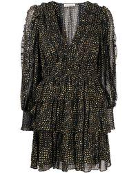 Ulla Johnson Ярусное Платье Prairie - Черный