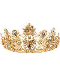 Dolce & Gabbana Embellished Crown - Metallic