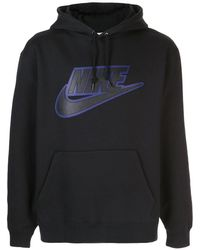 Supreme Худи С Аппликацией Из Коллаборации С Nike - Черный
