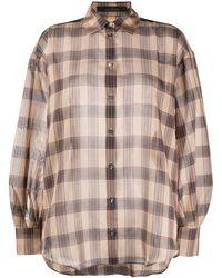 ROKH - チェック オーバーサイズシャツ - Lyst